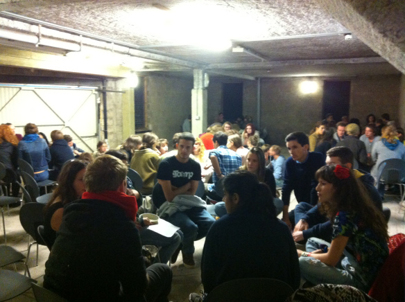 First general meeting. Direct democracy.